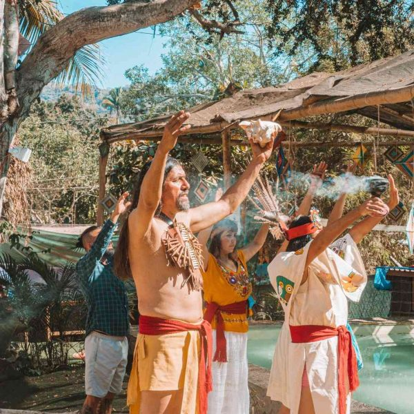 aztec ceremony in sayulita